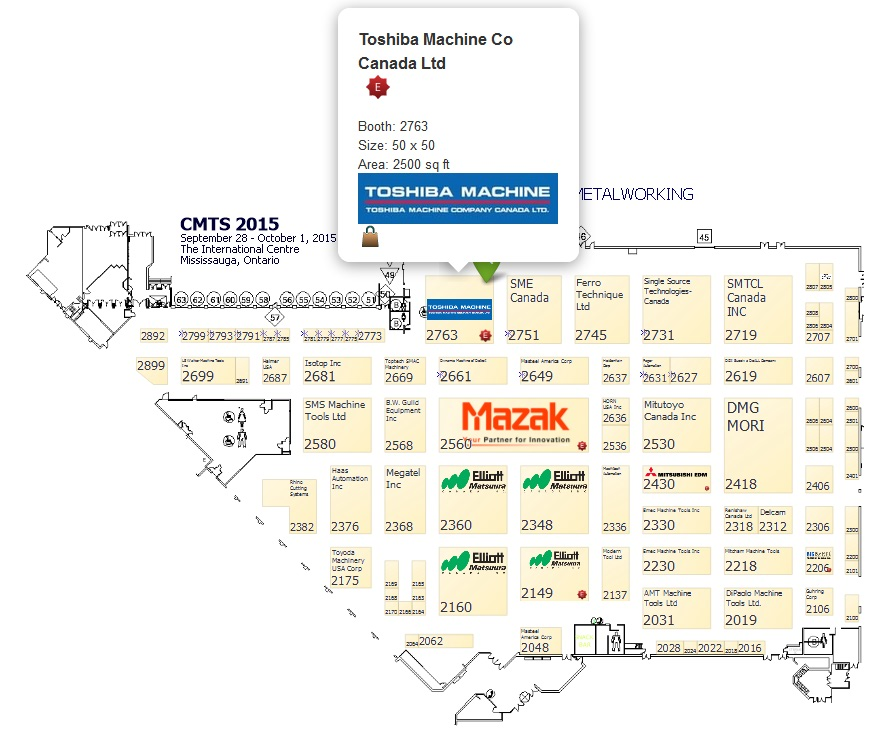 CMTS exhibitor floor plan